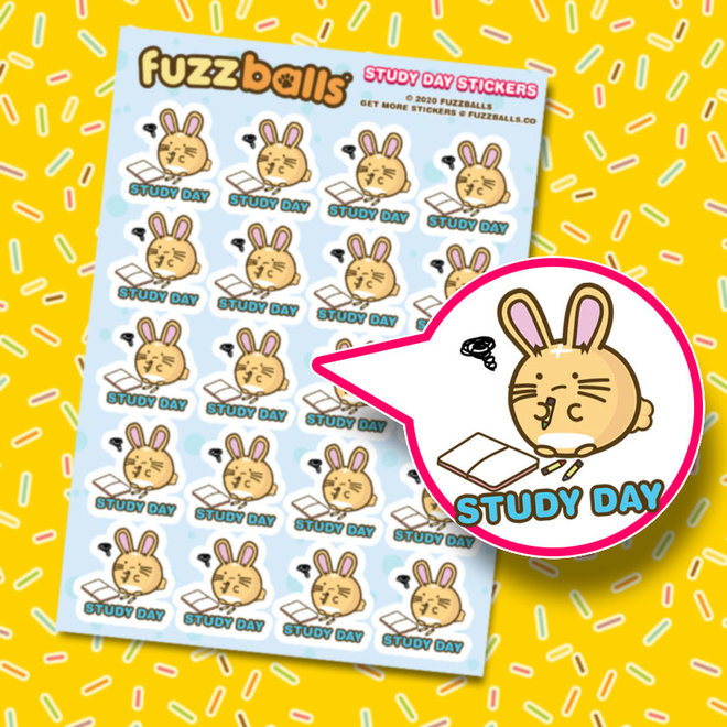 Fuzzballs sticker sheet - Study day