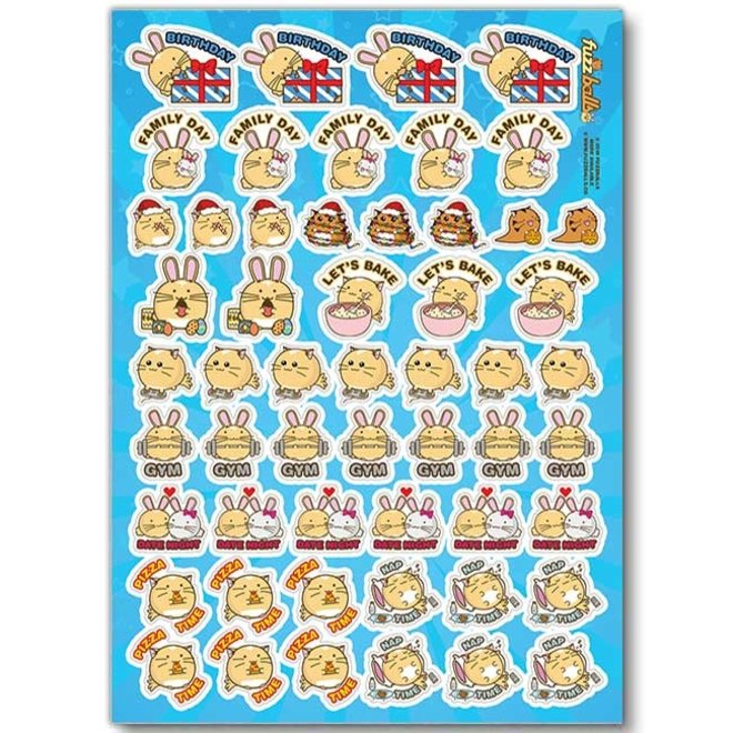 Fuzzballs sticker sheet - Diary