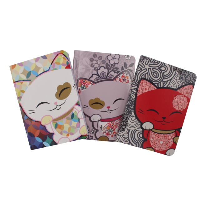 Mani the Lucky Cat  - Notebook small (various)