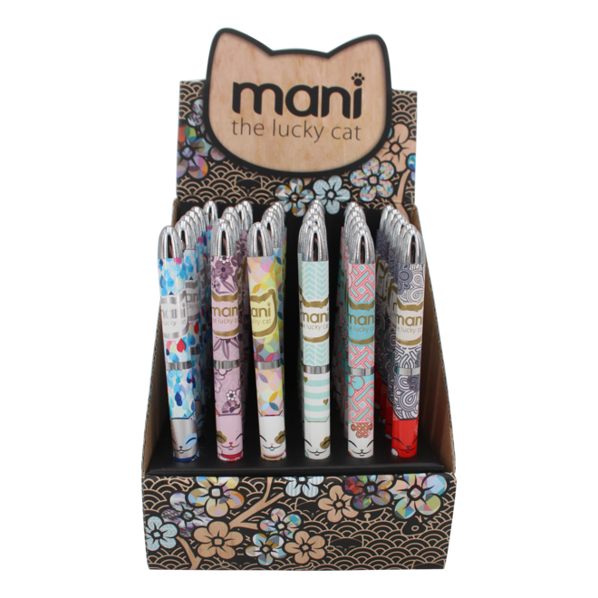 Mani the Lucky Cat  - Ball point  (various)