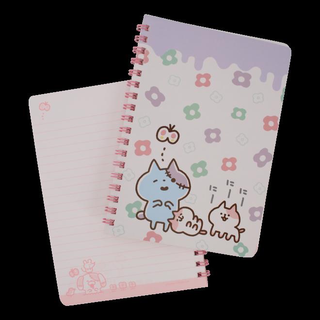 Zombie Cat Notebook - Flowers