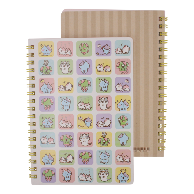 Zombie Cat Notebook - Squares