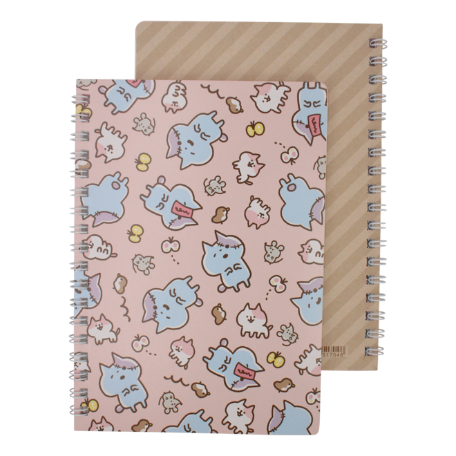 Zombie Cat Notebook - Pink