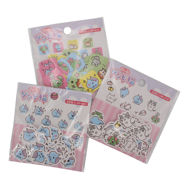 Zombie Cat Seal  Stickers 1