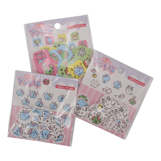 Zombie Cat Seal  Stickers 3