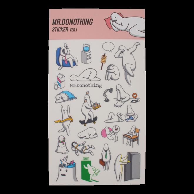 Mr.Donothing stickervel 1