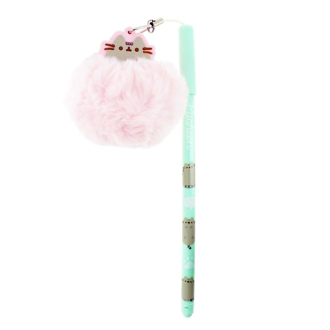 Pusheen ballpoint with pompom pendant