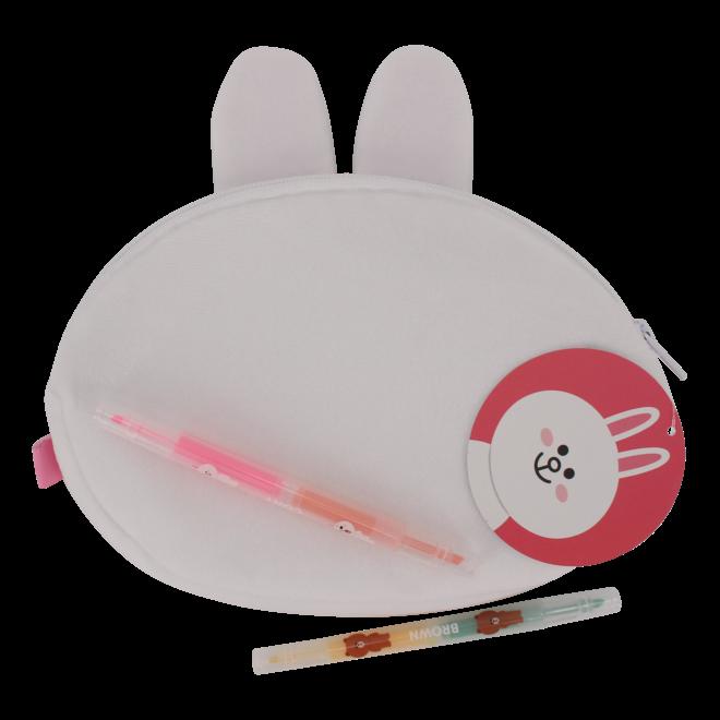 Line Friends plush pencil case Cony