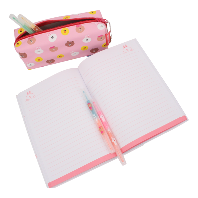 Line Friends plush notebook Cony