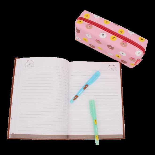 Line Friends A5 pluche notebook - Brown