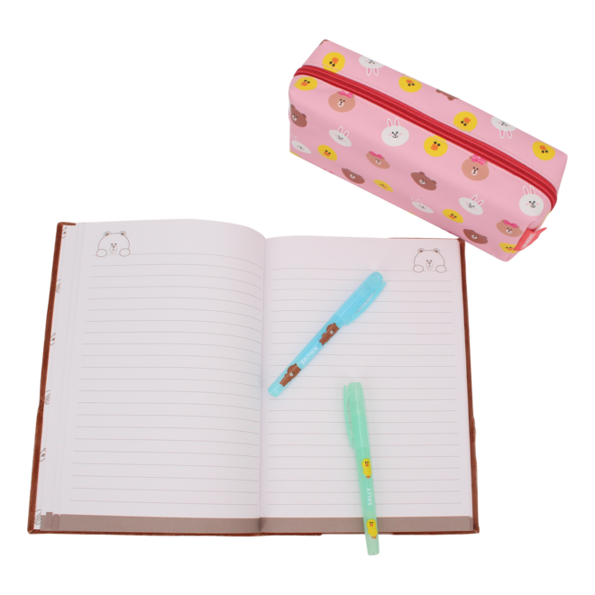 Line Friends pluche notitieboek Brown