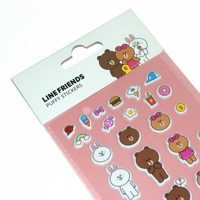 Line Friends sticker sheet Puffy