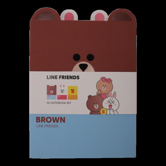 Line Friends A6 notebook set