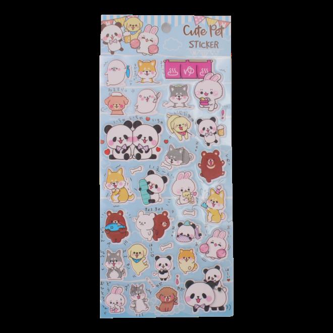 Cute pet puffy stickers (diverse)