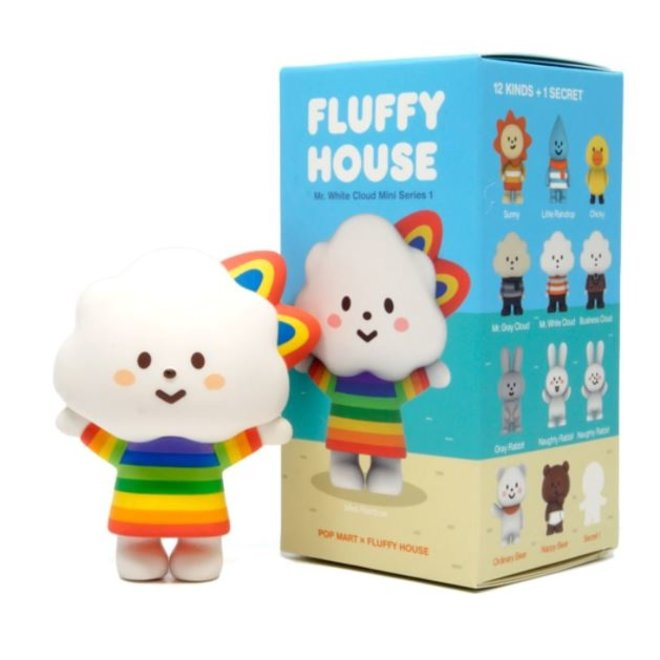 POP MART Fluffy House serie 1 blind box