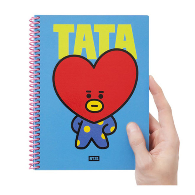 BT21 Heart A5 Spring Notebook - TATA