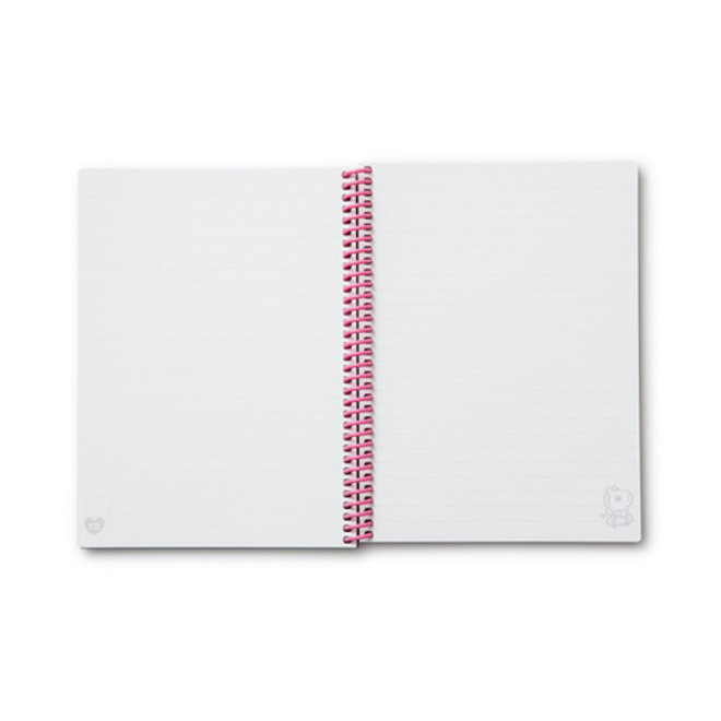 BT21 Heart A5 Spring Notebook - MANG