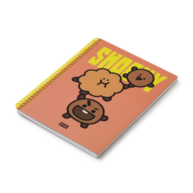 BT21 Heart A5 Spring Notebook - SHOOKY