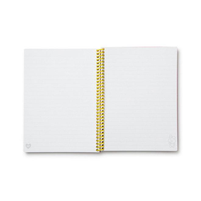 BT21 Heart A5 Spring Notebook - COOKY