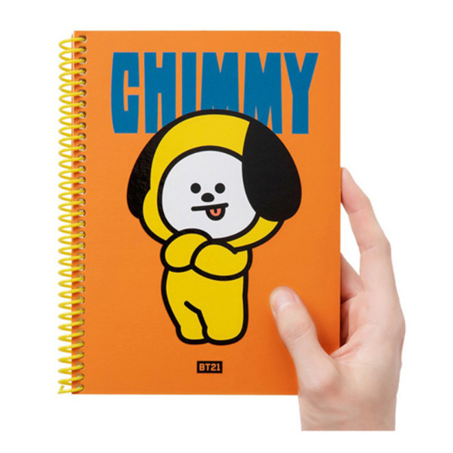 BT21 Heart A5 Spring Notebook - CHIMMY