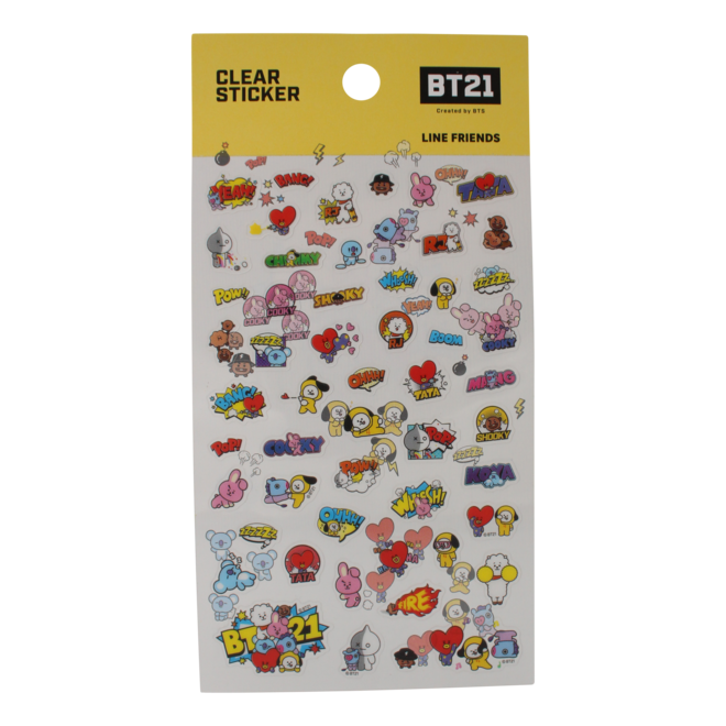 BT21 Clear Sticker sheet