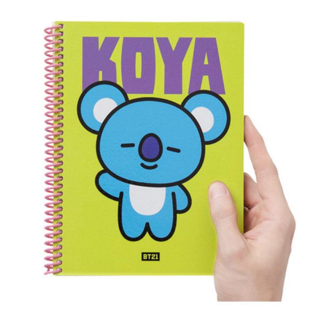 BT21 Heart A5 Spring Notebook - KOYA