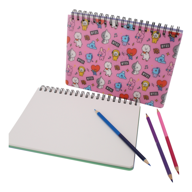 BT21 Drawing note - Blue