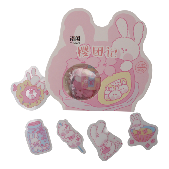 Kawaii Bunny stickers (diverse)
