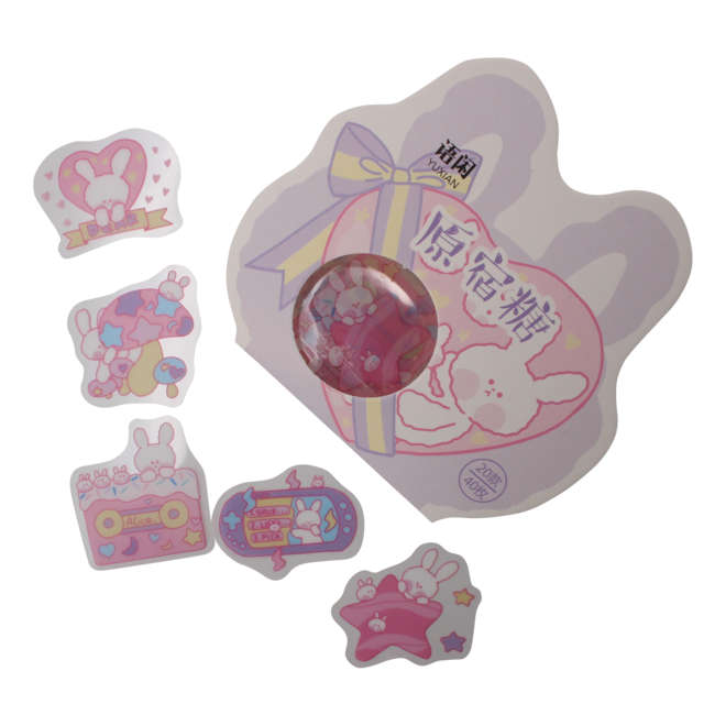 Kawaii Bunny stickers (various)