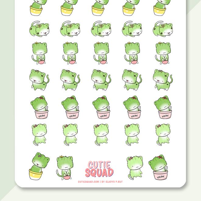 CutieSquad Stickervel - Cactus Cats