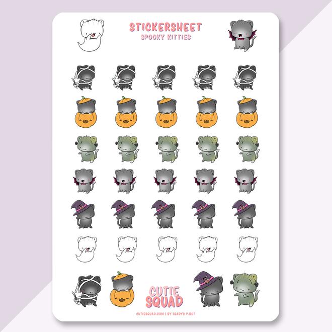Sticker sheet - Spooky Cats