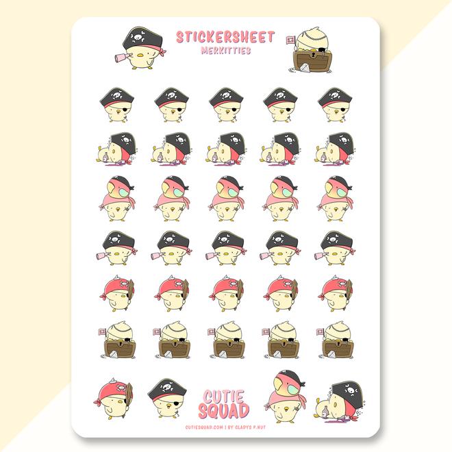 Sticker sheet - Pirate Chicks