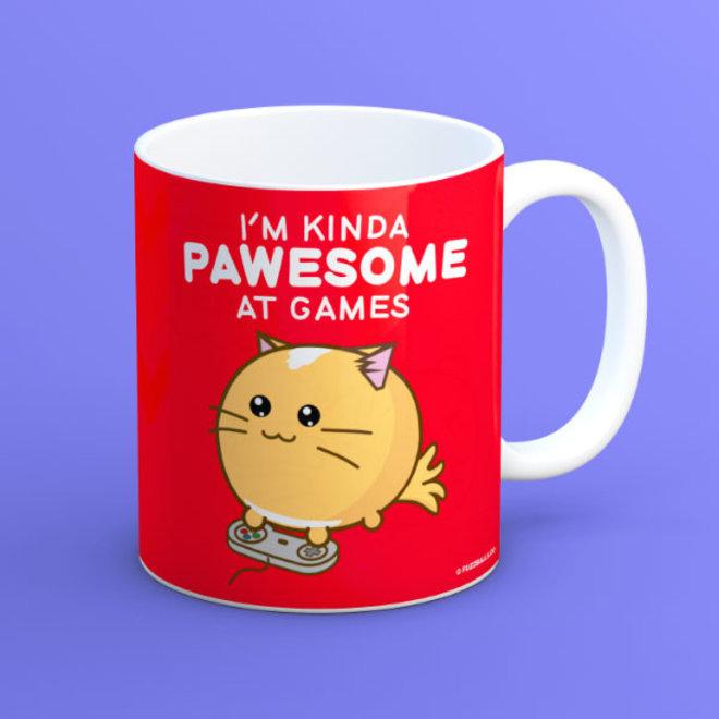 Fuzzballs mug - Pawesome at games