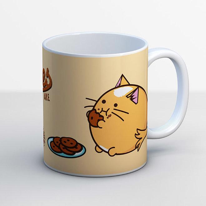 Fuzzballs mug - Cookies are evil
