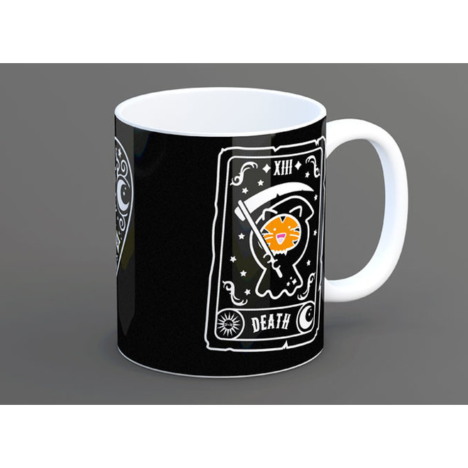 Fuzzballs mug - Death and Meowja