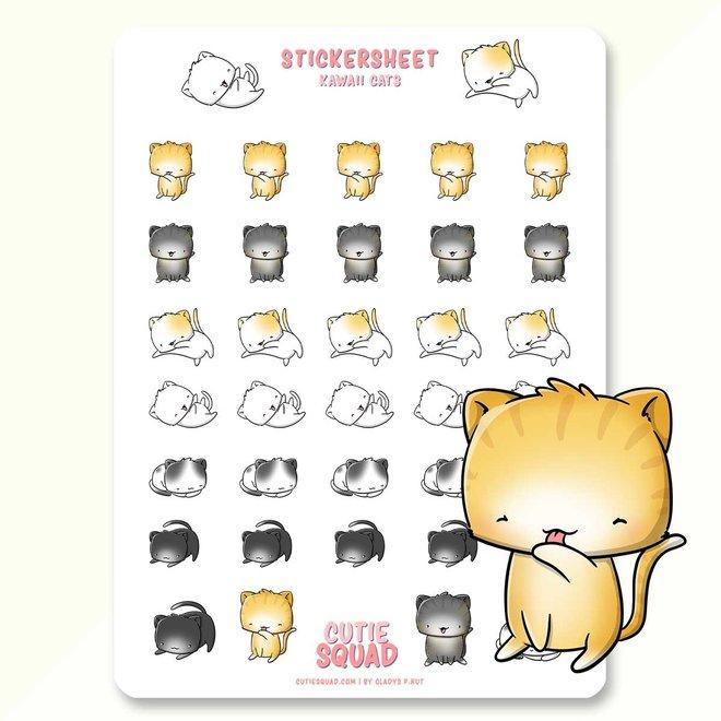 CutieSquad Sticker sheet - Kawaii Cats