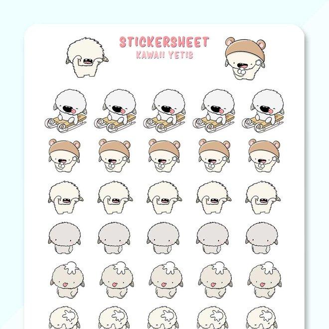CutieSquad Stickervel - Yeti's
