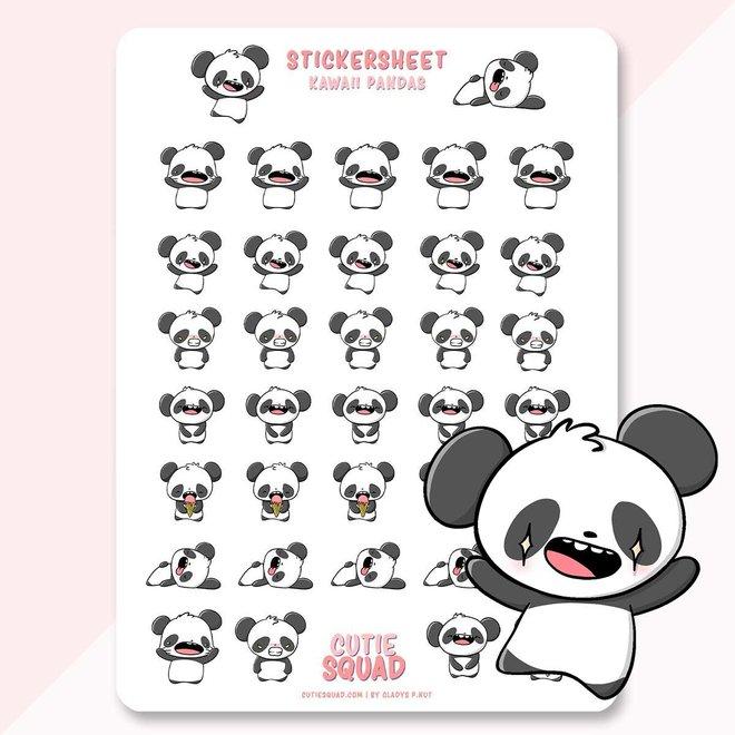 CutieSquad Stickervel - Kawaii Panda's
