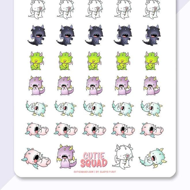 CutieSquad Sticker sheet - Dragons