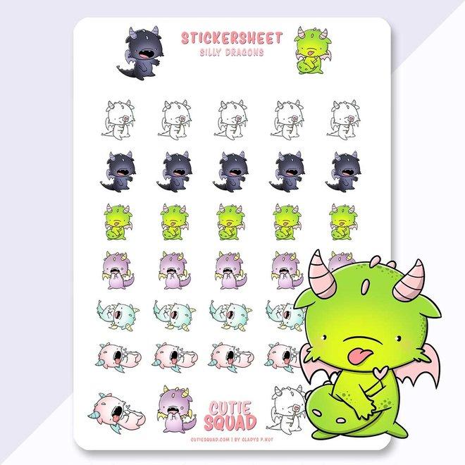 Sticker sheet - Dragons