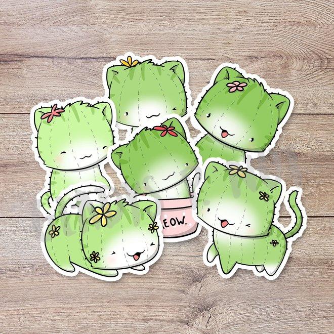 Stickerset - Cactus Cats