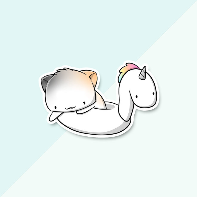 CutieSquad Sticker set - Pool float cats