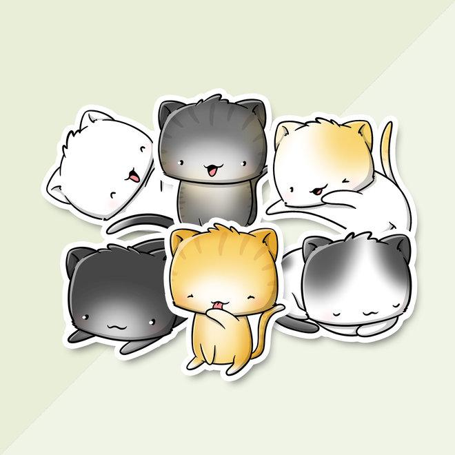 Stickerset - Kawaii cats