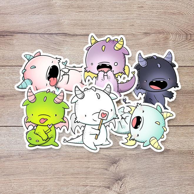 CutieSquad Sticker set - Dragons