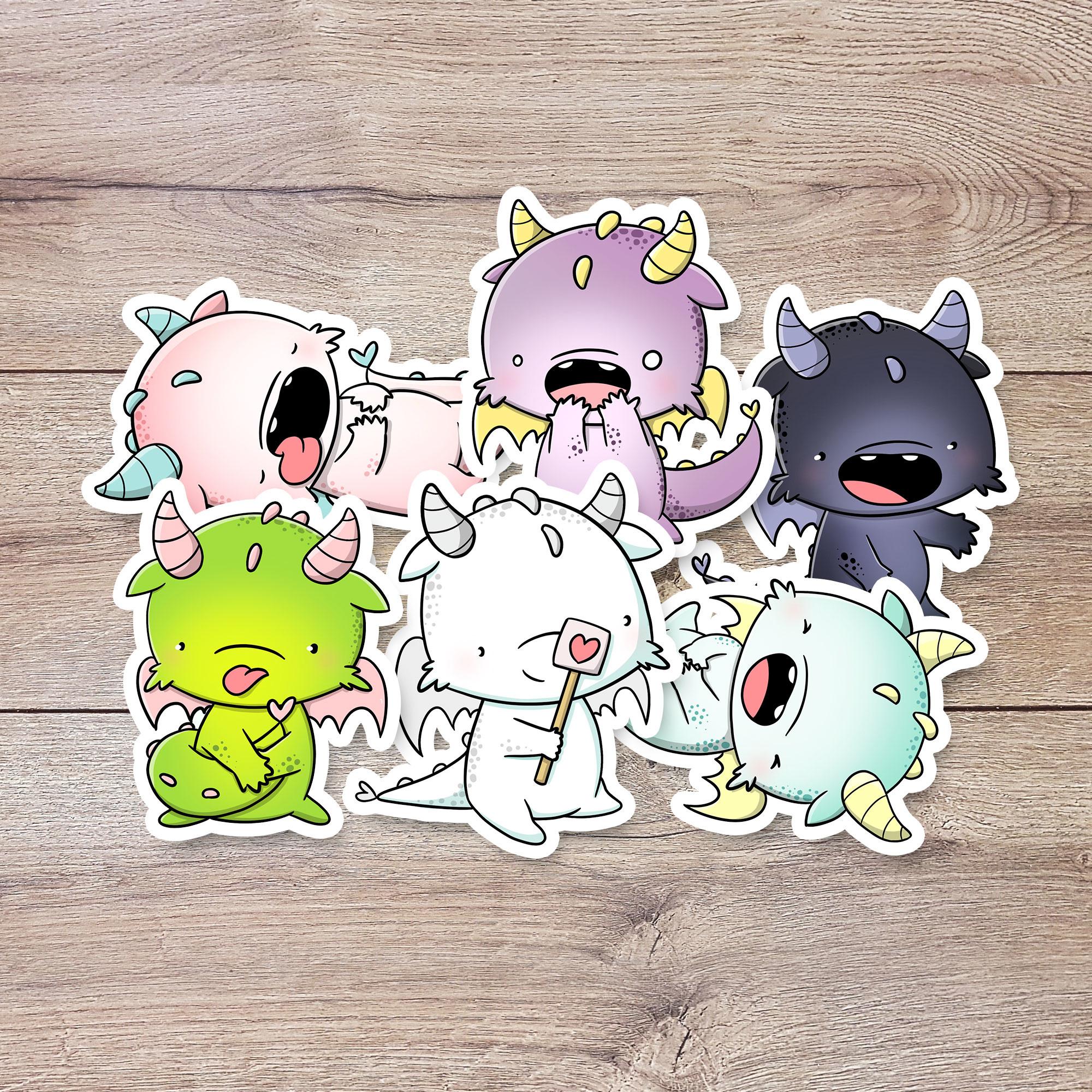 CutieSquad Stickerset - Dragons