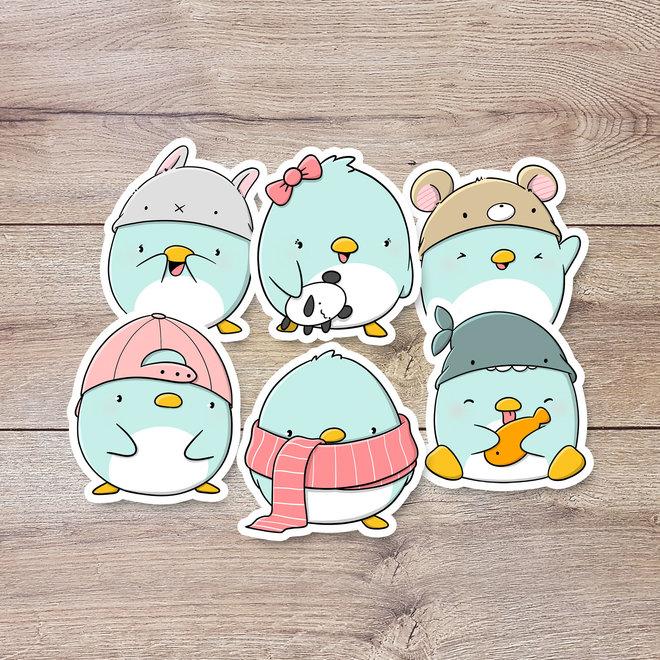 Sticker set - Kawaii Penguins