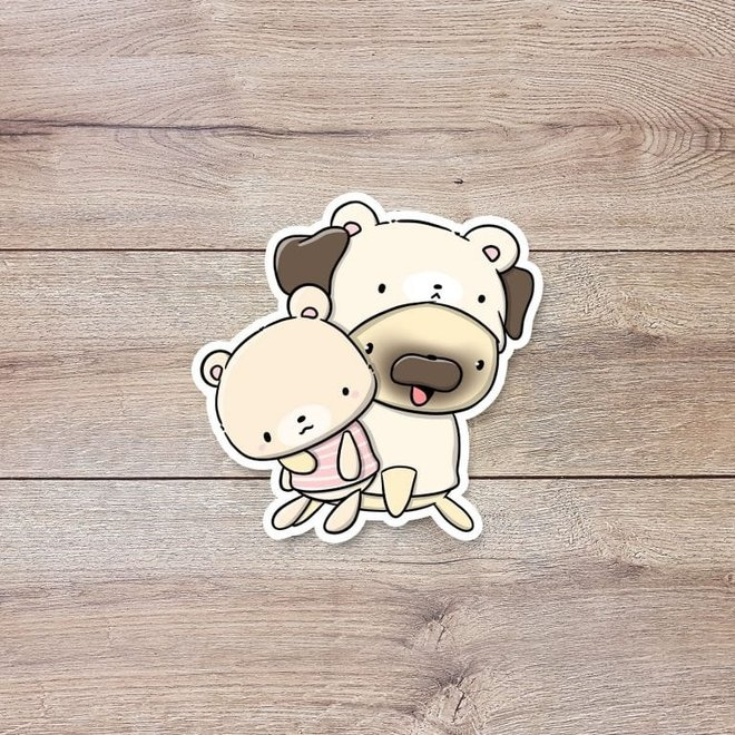 CutieSquad Sticker set - Teddy dogs