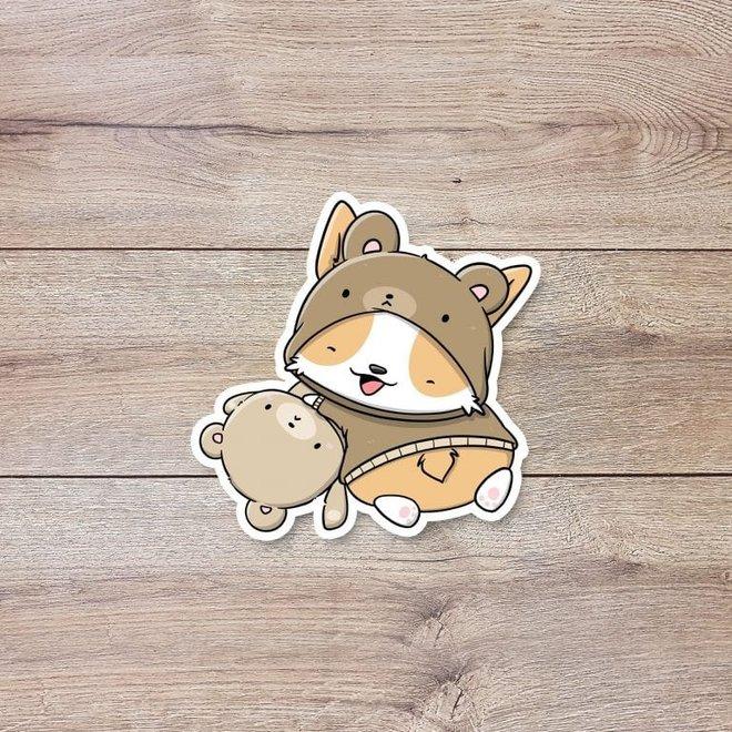 CutieSquad Stickerset - Teddy dogs