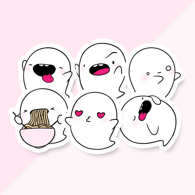 CutieSquad Stickerset - CuteStuff Ghost Yuki