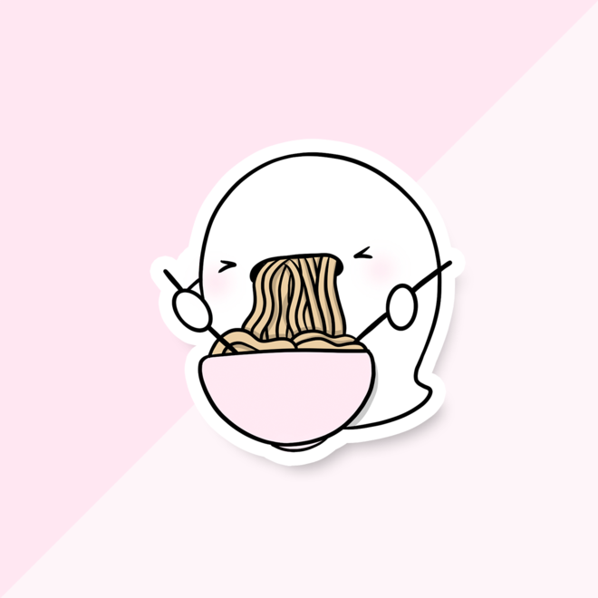 CutieSquad Sticker set - CuteStuff Ghost Yuki